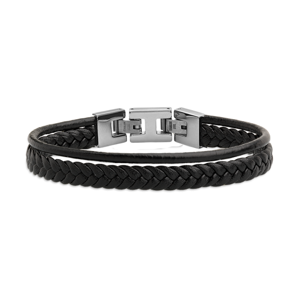 LEATHER & MORE Armband EDELSTAHL
