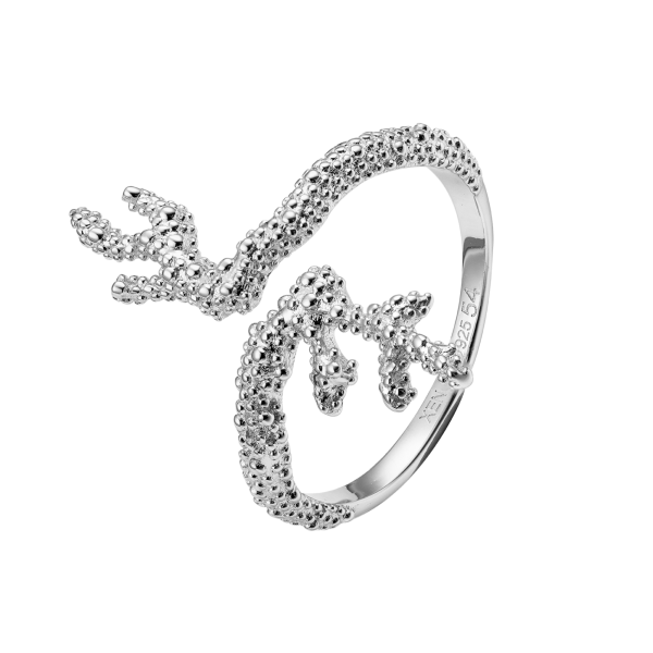 DEEP SEA Ring Sterlingsilber Koralle