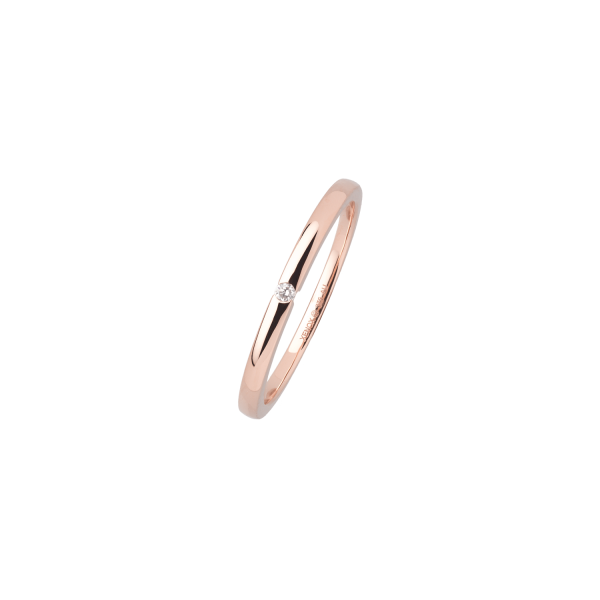 Ring, Roségold, Diamant